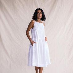 Linen Market Dress - White - ST. AGNI - 1