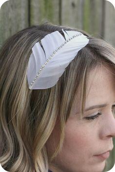 little lovelies: feather headband