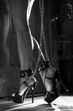 Ankle fetish has shackle she