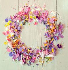 カラフルな花びら