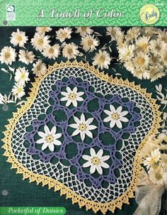 Pocketful Of Daisies House Of White Birches Collectible Doily
