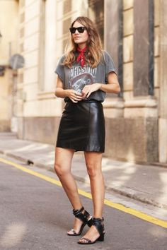 How To Wear A Vintage-Style Band Tee For Spring: