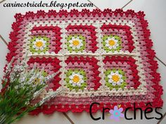 Carine Strieder e seus Crochês: Tapete granny square em degradê                                                                                                                                                                                 Mais