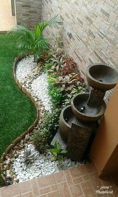 71 Beautiful Gravel Garden Design Ideas For Side Yard And Backyard - Garten Front Yard Landscaping, Backyard Landscaping, Landscaping Ideas, Backyard Ideas, Backyard Designs, Landscaping Borders, Garden Borders, Patio Ideas, Outdoor Ideas