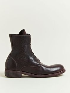 Guidi Men's Lace Up Bison Leather Boots