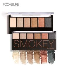 FOCALLURE Professional Metallic Eyeshadow Palette Makeup Matte Eye ...