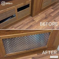 RV owner Brandon Willis replaced the broken slats of this vent cover in his RV with aluminum sheeting. Looks better than the original way, in my opinion! Rv Campers, Camper Trailers, Camper Life, Rv Life, Travel Trailers, Happy Campers, Camper Hacks, Tiny House, Rv Redo