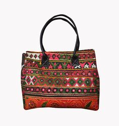 Indian Vintage banjara bag boho gypsy hippie tote mirror work Shoulder Tote Bag  #Handmade #BeachBagEveningBagShoulderBag Indian Textiles, Mirror Work, Boho Gypsy, Vintage Designs, Beach Bags, Shoulder Bag, Tote Bag, Ebay, Handmade