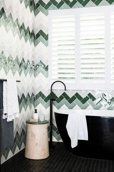 trendy home renovation laundry tile Decor, Modern White Bathroom, Bathrooms Remodel, Trendy Home, Home, Home Renovation, Guest Bedrooms, Home Decor, Room