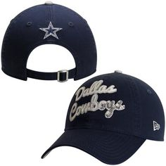 Dallas Cowboys New Era Women s Glitzmark 9FORTY Adjustable Hat - Navy Blue ec4bf54a9edc