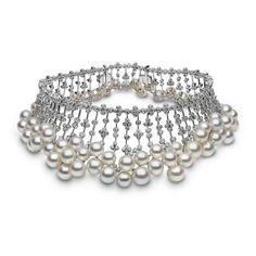 YOKO London South Sea pearl and diamond collar. one-of-a-kind !