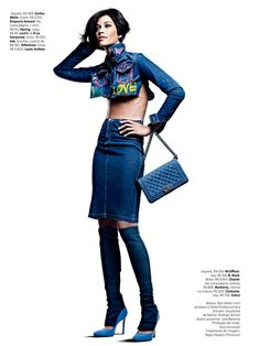 Denim Dominated Fashion Photography : vogue brasil october