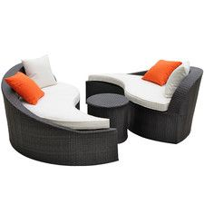 Magatama Outdoor 3 Piece Seating Group With Single Cushion Sofas Wayfair 900 Outdoor Sofa Sets Outdoor Beds Outdoor Seating Set