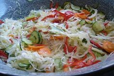 Hungarian Cuisine, Salad Recipes, Healthy Recipes, Pickling Cucumbers, I Want To Eat, Winter Food, No Bake Cake, Cabbage, Good Food