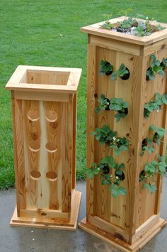 "38"" Patio Strawberry Planter. $179.00, via Etsy. A little pricey, but a good idea for DIY"