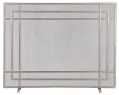 Alton II Pewter Fireplace Screen modern fireplace accessories