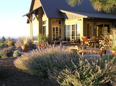 Hillside Retreat - contemporary - patio - other metro - Heart Springs Landscape Design, LLC High Desert Landscaping, Landscaping Ideas, Spring Landscape, Landscape Design, Contemporary Patio, Central Oregon, Colorado, Backyard, Cabin