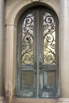 beautiful scroll work door