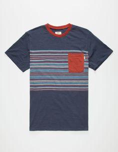 VANS Dunbar Striped Pocket Mens T-Shirt 260422210 | Pocket Tees