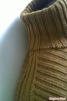 """МК """"Особенности прибавления-убавления петель на пройме и рукавах изделий, связанных резинкой """" - Машинное вязание - Страна Мам"""