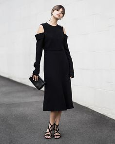 3 Ways To Style A Black Midi Dress For The Office