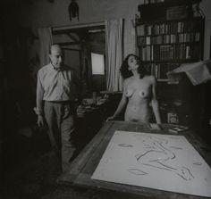 Rogelio Cuéllar :: painter Fernando Leal Audirac and model