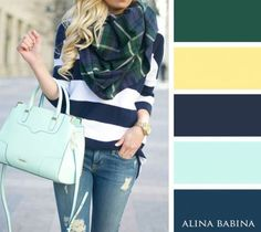 color combinations for fall Colour Combinations Fashion, Color Combinations For Clothes, Fashion Colours, Colorful Fashion, Color Combos, Green Fashion, Colour Schemes, Colourful Outfits, Mode Outfits