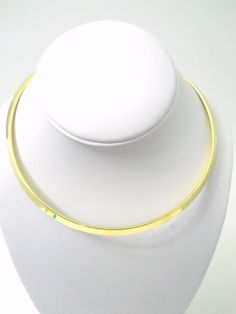 New Gold Tone Color Choker Round Wear Alone or With Pendant Lead Free Rhodium Plated