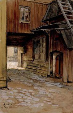 Albert Edelfelt - House in Porvoo 1902