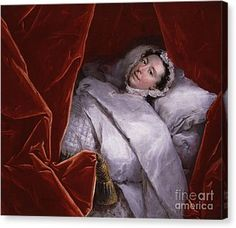 The Illness Of Actress Peg Woffington Canvas Print by MotionAge Designs