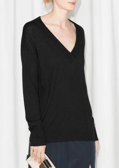 & Other Stories | V-Neck Silk-Blend Sweater