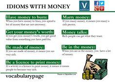 Idioms with MONEY