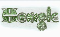 St Patrick's day was celebrated with a doodle written in a traditional Celtic font and in green on 17 March 2010