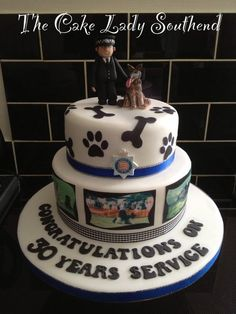 Police K-9 cake shared by NYC Firestore
