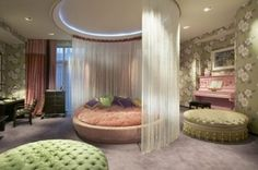 Fairy Tail Bedroom with Circle Bed... don't really want it... just think it looks cool :)