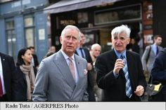 HRH The Prince of Wales and the architectural historian Valentin Mandache, Bucharest 31 March 2017
