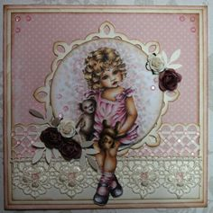 Ninas kreative roteloft Copic, I Card, Cardmaking, Shabby, Princess Zelda, Frame, Pink, Fictional Characters, Inspiration