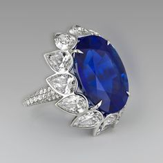 David Morris blue sapphire ring