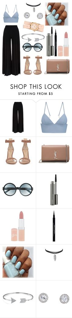 """Untitled #249"" by jasmine-abdallah on Polyvore featuring Marco de Vincenzo, T By Alexander Wang, Gianvito Rossi, Yves Saint Laurent, Tom Ford, MAC Cosmetics, Rimmel, Givenchy, Bling Jewelry and Michele"