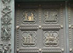 Andrea Pisano, Porta sud del Battistero di S.Giovanni a Firenze, 1329-1336, bronzo dorato, Battistero di S.Giovanni, Firenze