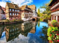 La Petite France à Strasbourg  Find Super Cheap International Flights to Strasboursg, France https://thedecisionmoment.com/cheap-flights-to-europe-france-strasbourg/