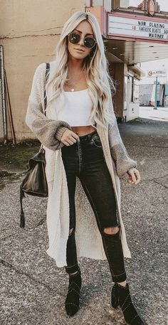 20 Cute Women Fall Outfits Ideas With Cardigan