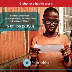 Half the world to be short-sighted by 2050