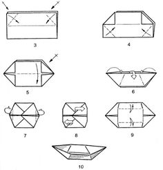 Znalezione obrazy dla zapytania łódki origami