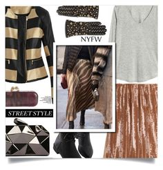 """""""NYFW Street Style"""" by dolly-valkyrie ❤ liked on Polyvore featuring Alexander McQueen, Emilio Pucci, Moschino, WithChic, GetTheLook, StreetStyle and NYFW"""