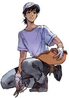 "Concept design for the 17-years-old Shinji Ikari described in the light novel ""Evangelion Anima"" (2008)."