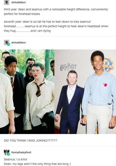 deamus, seamus finnigan, dean thomas, harry potter, hp