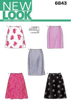 New Look 6843 (Great basic skirt pattern -- have made 3 times so far)