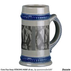Beer Steins Beer Stein Beer Mugs with beautiful original fine art drawings of a handsome Body Builder In Tight Jeans..Size 18 oz Stein Beer Steins. Fast Worldwide shipping. Money Back