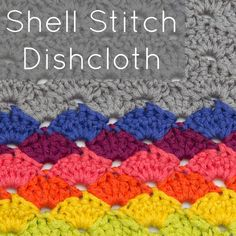 Crochet Shells are some of the easiest stitches to make and master. Here's a quick guide how to make your own Simple Crochet Shells Dishcloth.